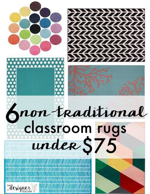6 Non-Traditional Classroom Rugs Under $75 from The Designer Teacher