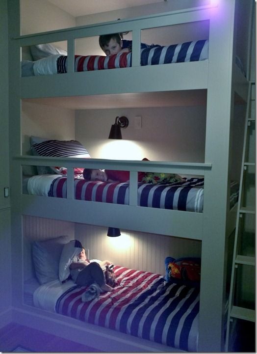 My Dad was a visionary... he made me a triple bunk for my 3 person dorm room in college.