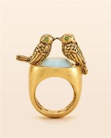 Kissing Birds Ring $88 #ring