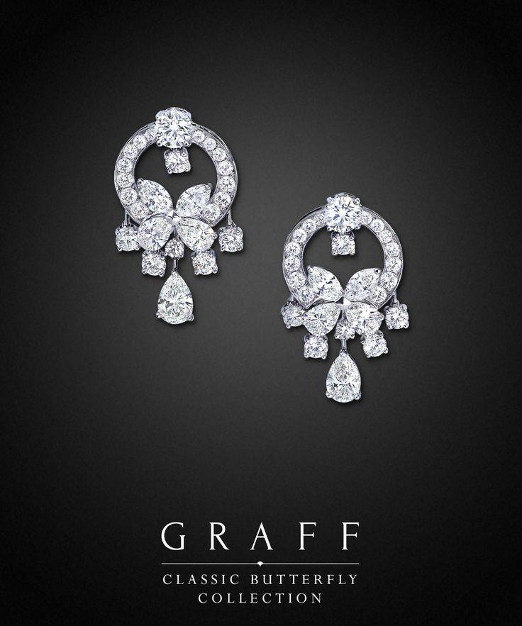 Graff Diamonds: Classic Butterfly Earrings