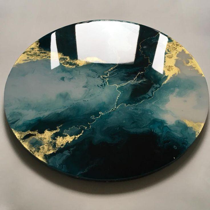 Epoxy Resin Art Techniques : Love the gold поверхн pinterest resin and