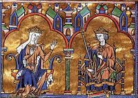Bible of St Louis detail - Bible - Wikipedia, the free encyclopedia - Blanche of Castile and St. Louis (IX)