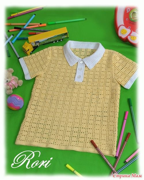 Camisa de polo de verano Para Los Niños - Knitting for Kids - País mamá