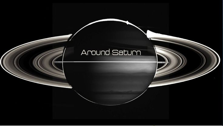 Around Saturn, Moving Footage of Saturn's Moons and Rings Set to a Dramatic Waltz