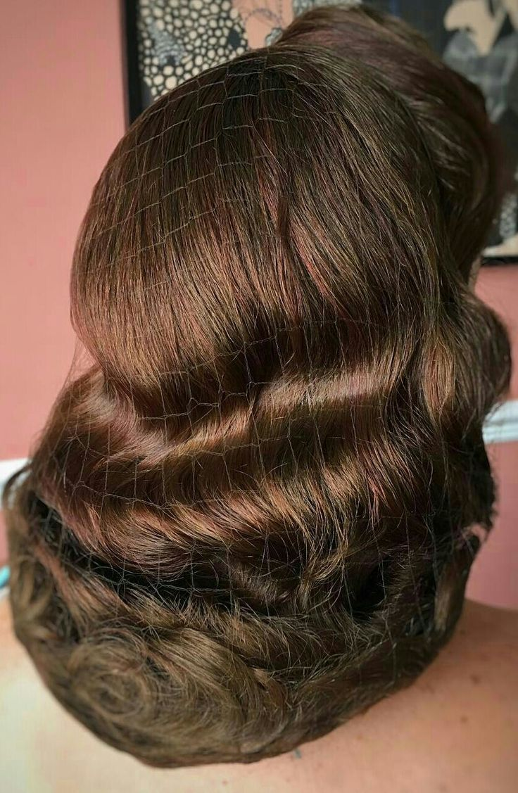Invisible hairnets are a very helpful tool for vintage styles!