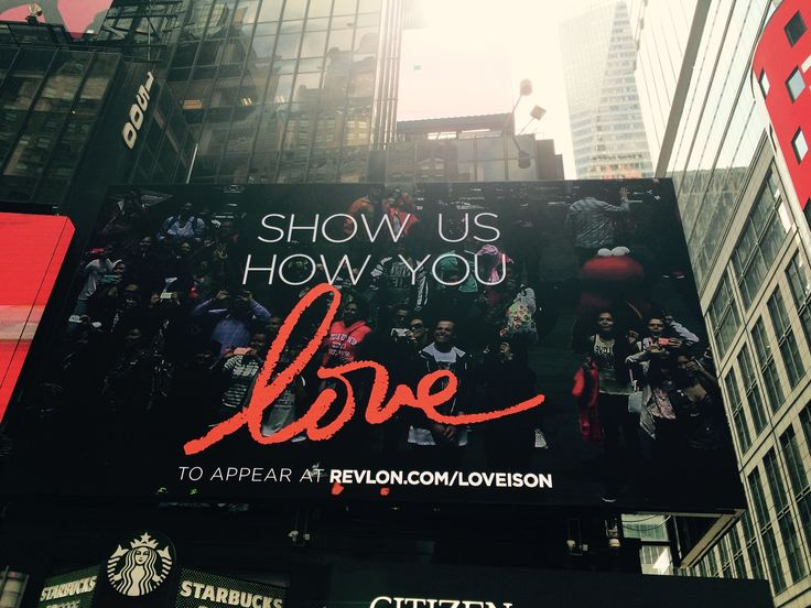 This is how you #love in Times Square, New York City :)