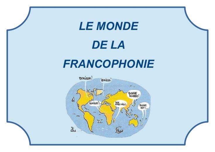 Carte mentale, schéma de concepts sur le monde de la francophonie.