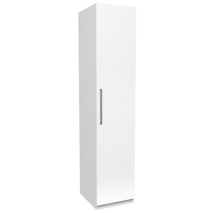 Darwin Handpicked White Tall Single Wardrobe | Departments | DIY at B&Q