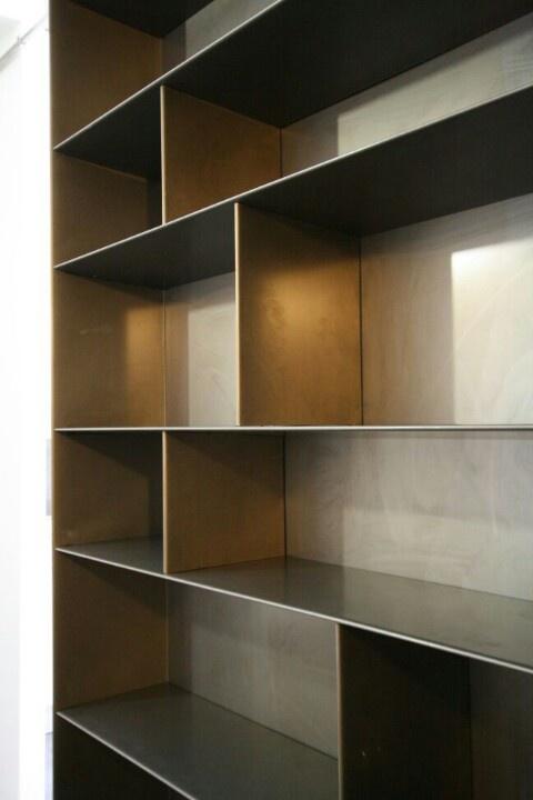 Steel bookshelves.. www.harrierdesign.it