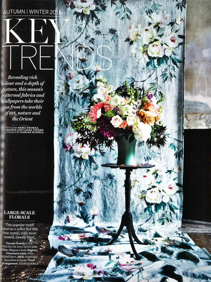 designers guild floreale grande fabric as seen in homes gardens - Design Guild Homes