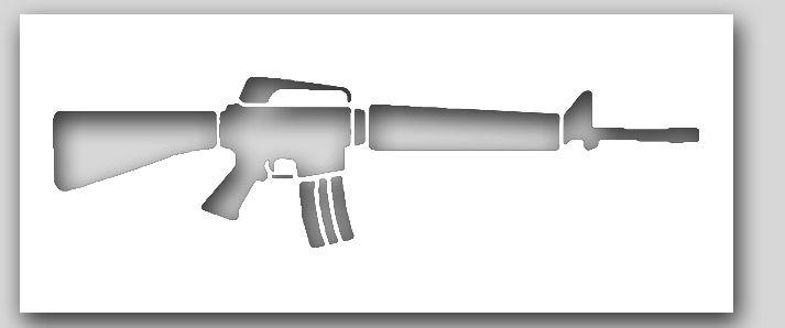 M16 Rifle Stencil | SP Stencils