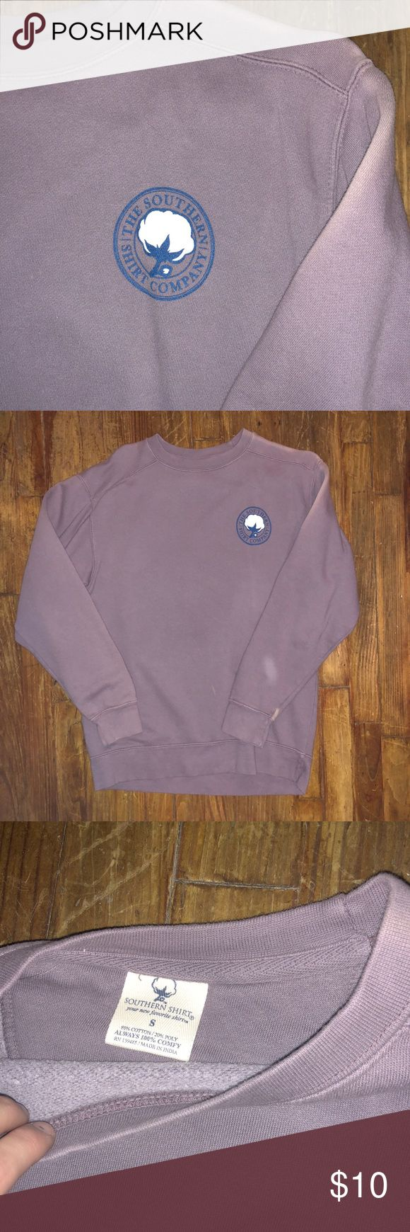 Southern shirt company sweatshirt Southern shirt company sweatshirt. Purplish color. Never worn but washed it and it faded and has a spot on the arm. Small more like a medium southern shirt company Jackets & Coats