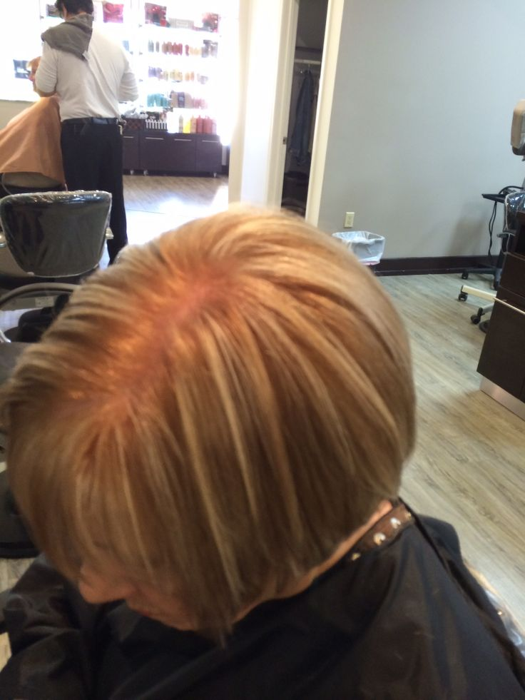 Color and haircut by Debbie