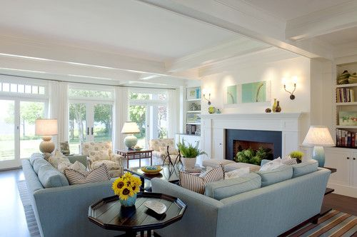 Double couches add double comfort in rooms made for family gatherings.