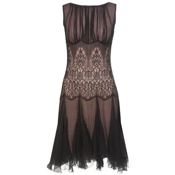 Silk Chiffon Detailed Dress found on Polyvore