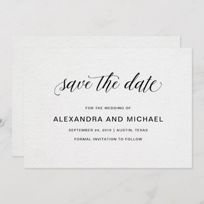 Create Your Own Flat Save The Date Card