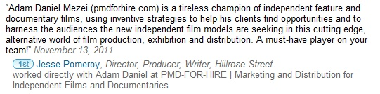 Jesse Pomeroy of World Full of Nothing (worldfullofnothin...) recommends PMD-For-Hire.