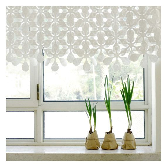 Floral paper curtain // room divider // window covering // window dressing // wall hanging