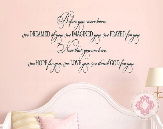 Best Baby Nursery Wall Decals Images On Pinterest Babies - Baby nursery wall decals sayings