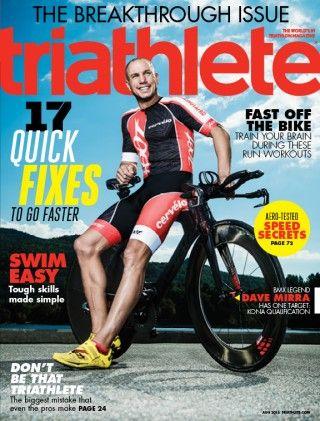 Triathlete Magazine's August 2015 Issue with Zoot Athlete Dave Mirra
