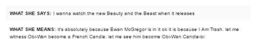It is absolutely because Ewan McGregor is in it okay because I Am Trash. Let me watch Obi-Wan become a French candle. Let me him become Obi-Wan Candle-bi