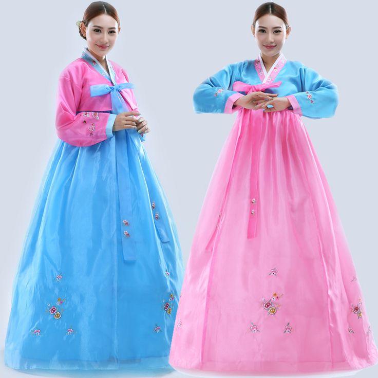 Vestido Tradicional coreano Bordar Mulheres Hanbok Coreano Vestido Feminino Vestuário Antigo Luxo Hanbok Coreano Partido Cosplay HXF18 em Ásia & Roupas de Ilhas Do Pacífico de Novidade & Uso Especial no AliExpress.com | Alibaba Group