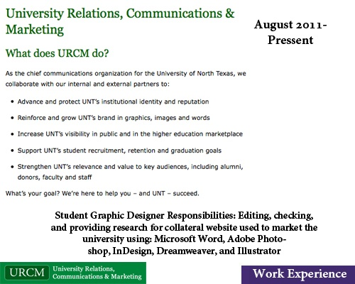 University Relations, Communications & Marketing (Denton, TX) August ...