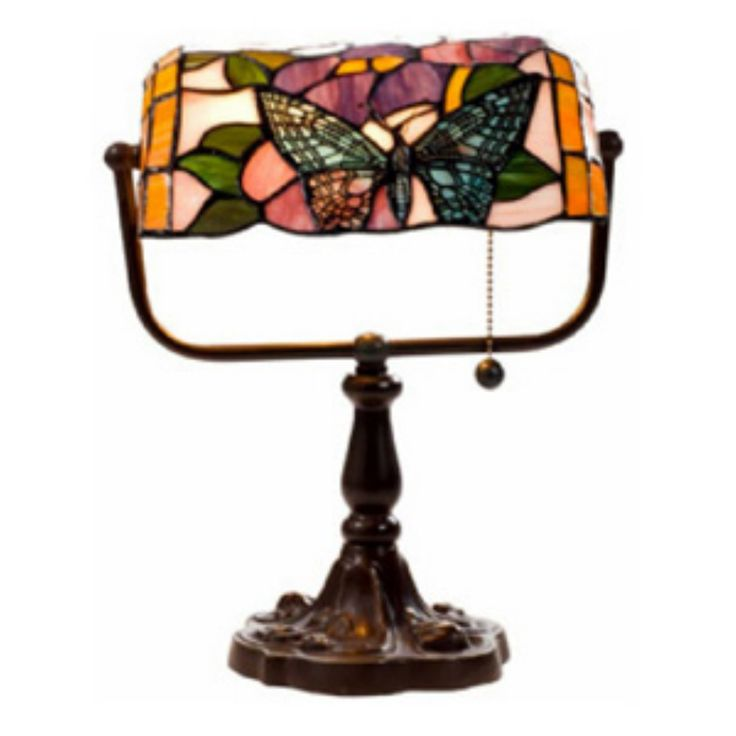 Warehouse of Tiffany Butterfly Bankers Desk Lamp - KS61+MB51