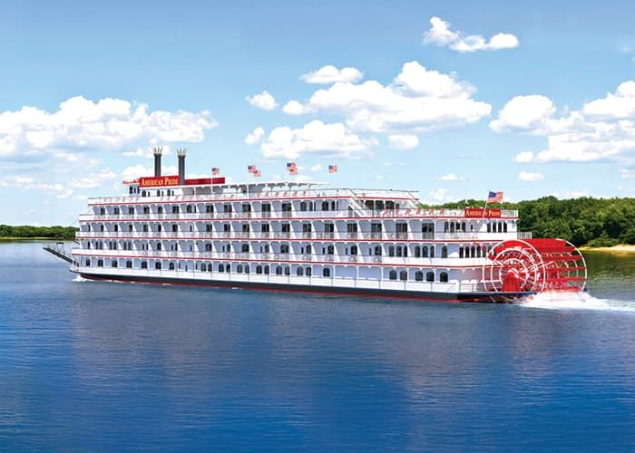 Paddlewheel-driven river cruise ships are being built in record numbers for the waterways of the United States. Photo courtesy of American Cruise Lines.