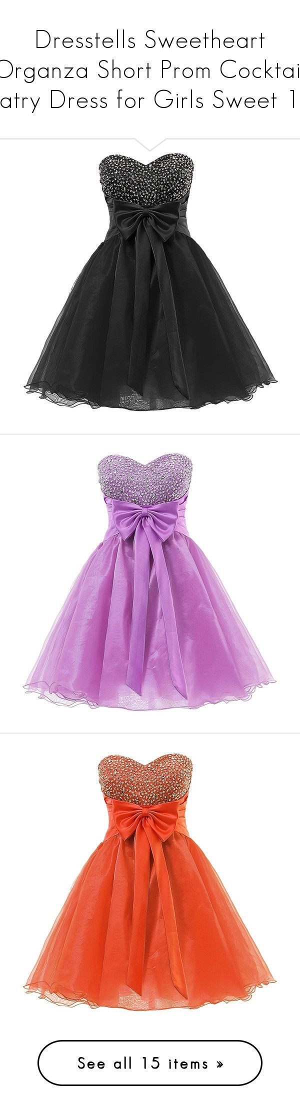 """""""Dresstells Sweetheart Organza Short Prom Cocktail Patry Dress for Girls Sweet 16"""" by sweetie-hart ❤ liked on Polyvore featuring dresses, short dresses, black, cocktail homecoming dresses, holiday dresses, sweetheart cocktail dresses, cocktail prom dress, prom dresses, purple and evening cocktail dresses"""