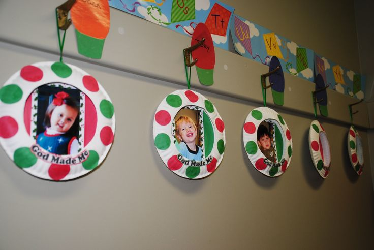 Paper plate picture frame ornaments arts crafts for Photo frame ornament craft