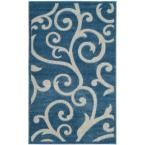 Cottage Blue/Cream (Blue/Ivory) 3 ft. 3 in. x 5 ft. 3 in. Indoor/Outdoor Rectangle Area Rug