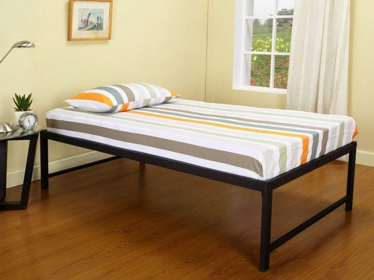 kingu0027s brand metal day bed frame twin black this metal day bed frame includes platform with metal slats easy to assemble the mattress is not included