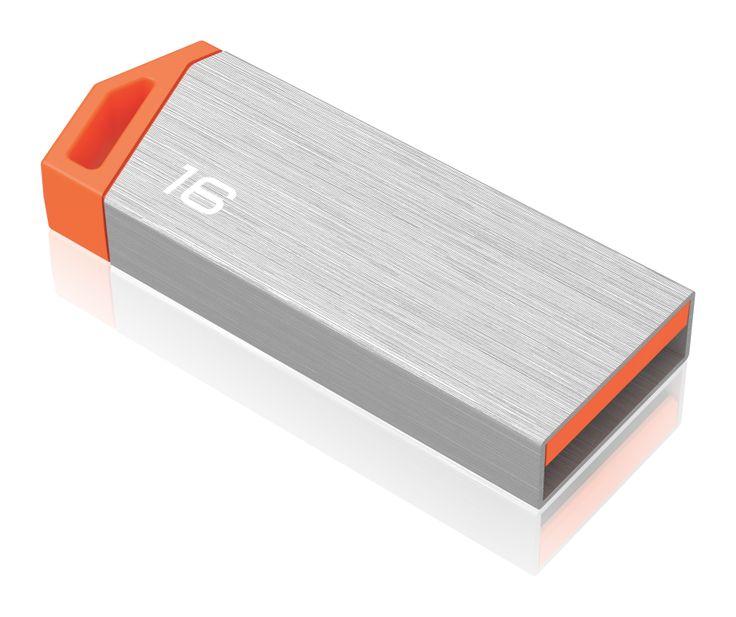 miniMetallic mini USB flash drive, back 3/4 - 16GB #EMTEC #FlashDrive