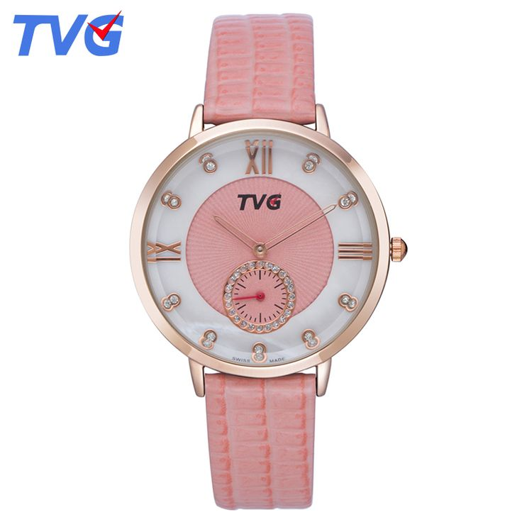 Relojes Mujer 2016 TVG Quartz Women Watch Leather Strap Fashion Casual Dress Roman Display Watches Relogio Feminino Montre Femme //Price: $26.95 & FREE Shipping //     #hashtag3