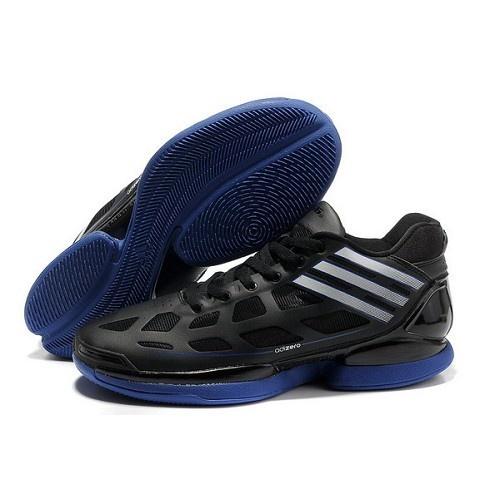 Adidas Adizero Crazy Light Rose Low MVP 9.8 Ounces White Black Blue Men Basketball  Shoes For