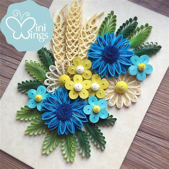 Miniwings Flower Paper Art Quilling / Modern Home Decoration