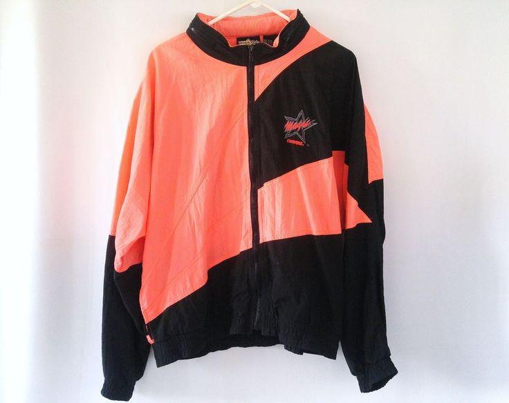 VTG Converse Magic Johnson Jacket Warm Up Windbreaker Basketball 80s 90s NEON #Converse #Casual