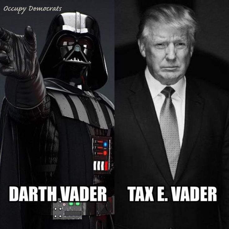 Trump Taxes Politico: Tax E. Vader Trump --- Paying No Taxes + Re…
