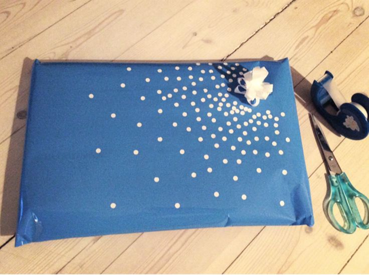 Gift wrapping•Easy DIY•dots-