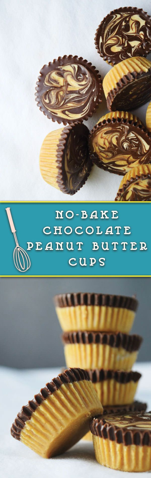 No Bake, Just 4 Ingredients Chocolate Peanut Butter Cups are easy to back to school treats. Make them ahead & keep stored in the refrigerator.