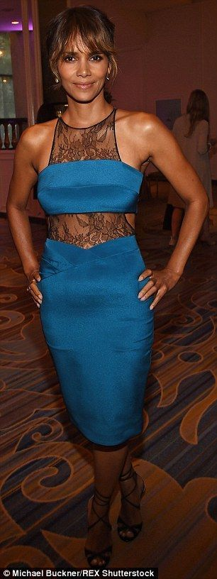 The actress gave onlookers something else to ogle over as she attended the Hollywood Foreign Press Association Annual Grants Banquet at the Beverly Wilshire Fou