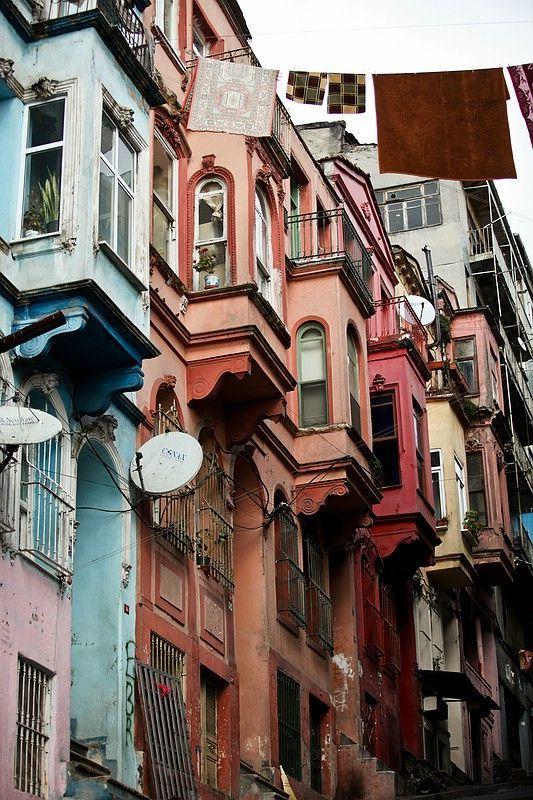 Kumkapi old houses, Istanbul, Turkey
