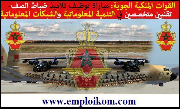 ROYAUME DU MAROC  FORCES ARMEES ROYALES  ETAT-MAJOR GENERAL  SERVICE PRESSE                AVIS DE CONCOURS   RECRUTEMENT D'ELEVES...