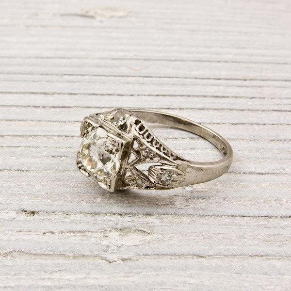 Etsy vintage jewelry: Diamond Engagement Rings, Carat Art, Vintage Engagement Rings, Diamonds Rings, Vintage Rings, Art Deco Diamonds, 1 Carat, Diamonds Engagement Rings, Vintage Jewelry