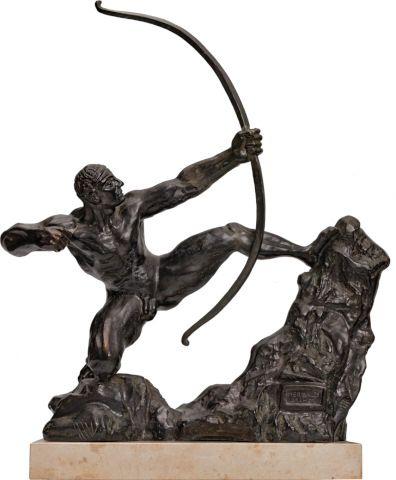 BOURDELLE EMILE ANTOINE (1861–1929)  Herakles Stretching Bow, 1909