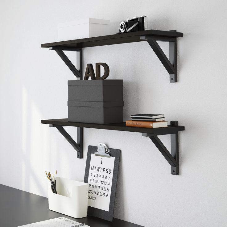 Hemnes wandplank ikea ikeanl bureau opbergen for Ikea accessoires bureau