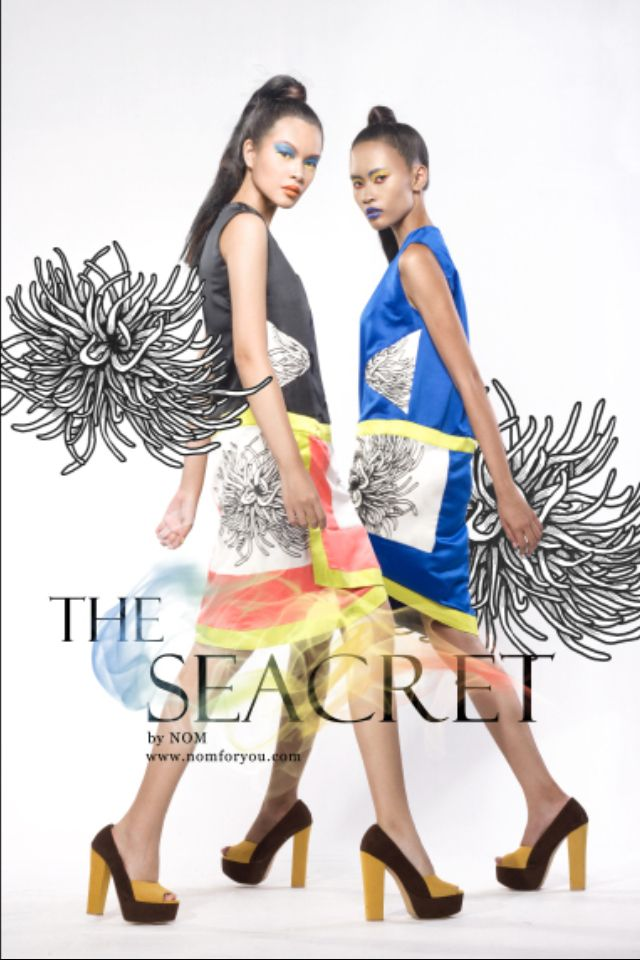 "NOM ""The Seacret"" campaign 2013 Designed by Pradani Ratna Photo by Ismoyo Adhi"