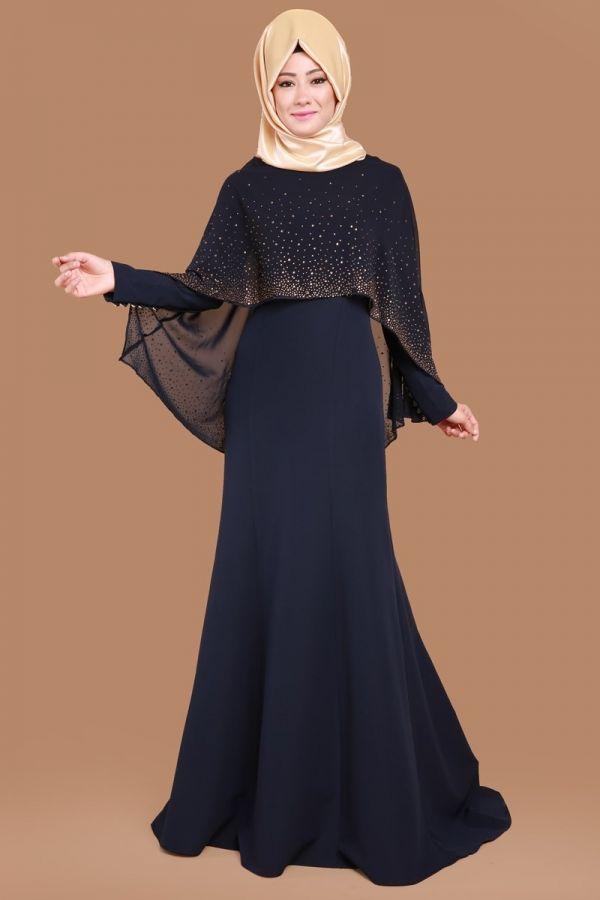 Şifon Pelerinli Elbise Laci Ürün kodu: MSW8126--> 149.90 TL