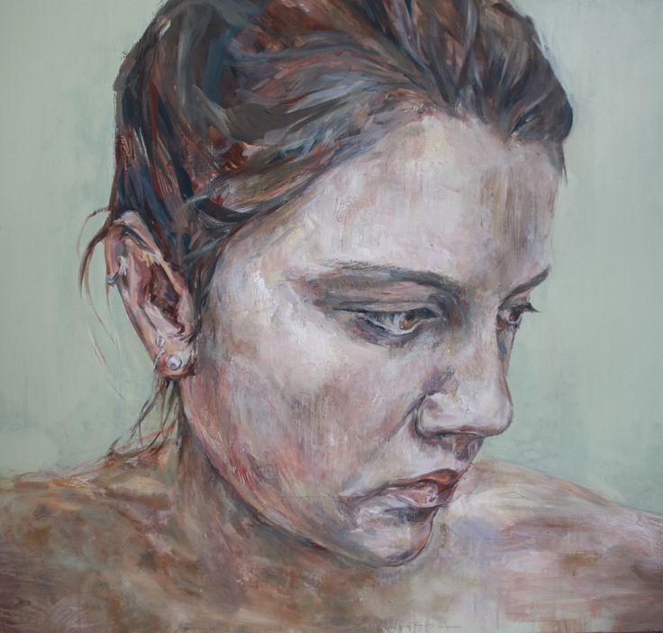 Self Portrait. Oil on board 82 X 76 cm